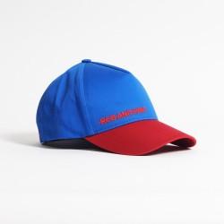 Бейсболка красно синяя