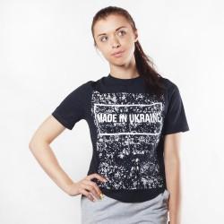 Женская футболка Made Black