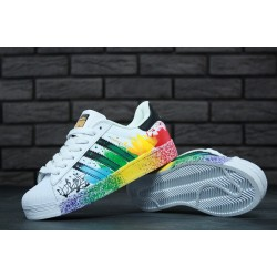 Кроссовки Adidas Superstar Paint white