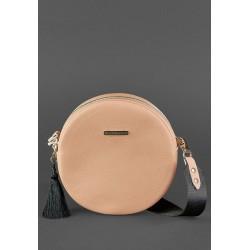Круглая сумочка крем-брюле