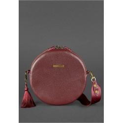 Круглая сумочка марсала