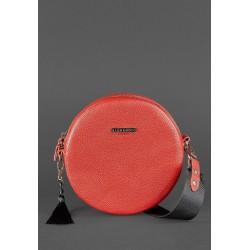 Круглая сумочка рубин