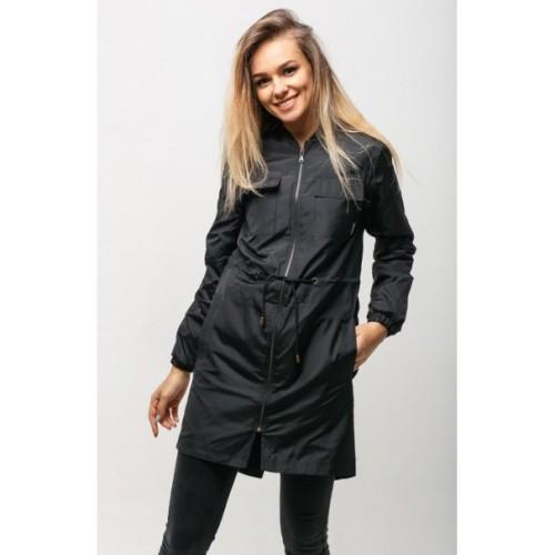Женская куртка на осень чёрная