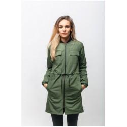 Женская куртка на осень хаки