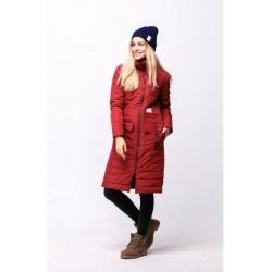 Женская осенняя куртка бордовая