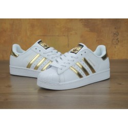 Кроссовки Adidas Superstar Gold White