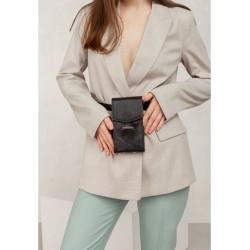 Кожаная женская сумка через плечо/поясная