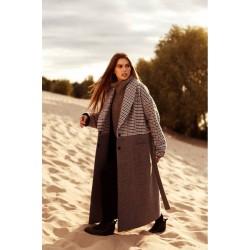 Пальто Oversize двухцветное