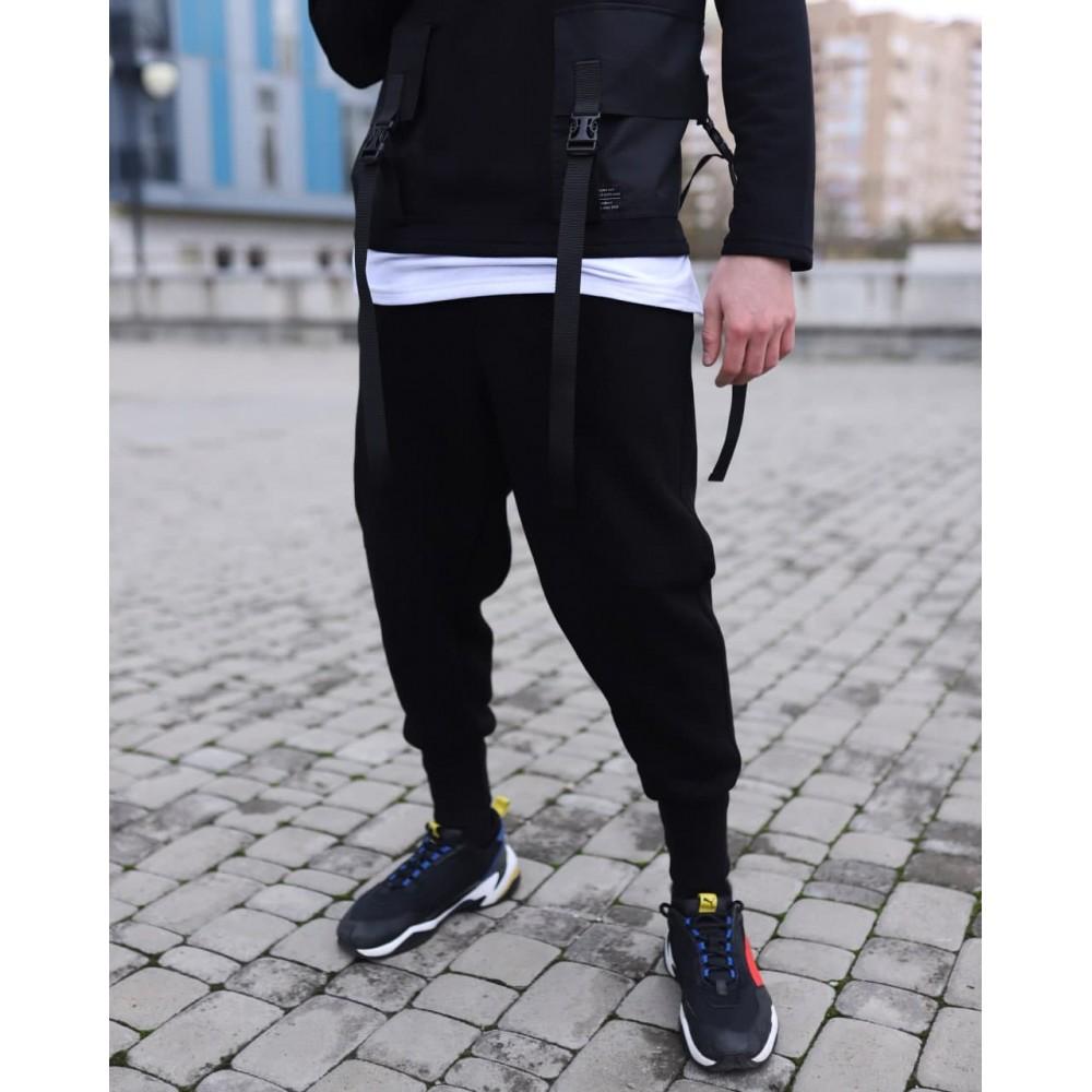 Утепленные зимние спортивные штаны