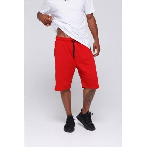 Мужские хлопковые шорты красные