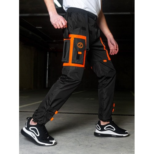 Спортивные штаны карго Black orange
