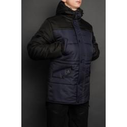 Синяя зимняя куртка мужская