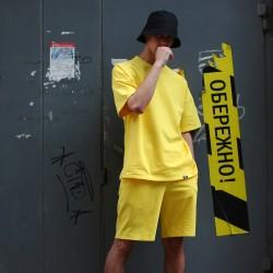 Спортивные мужские шорты желтые