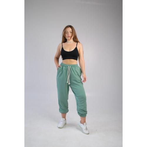 Спортивные штаны женские оверсайз ментол Hi mate