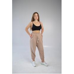 Женские спортивные штаны оверсайз пудра Hi mate