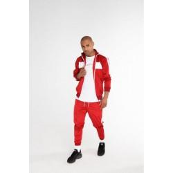 Спортивный костюм с лампасами красный