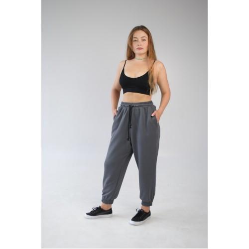 Спортивные штаны OVERSIZE женские серые Hi mate