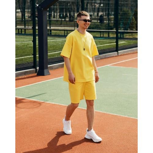 Комплект футболка шорты жёлтый