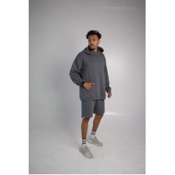 Комплект шорты худи серый Hi mate