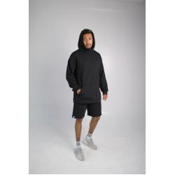 Комплект шорты худи чёрный Hi mate