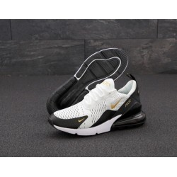 Кроссовки Nike Air Max 270 White black gold