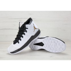 Nike Air Jordan Melo M13 White Black Gold