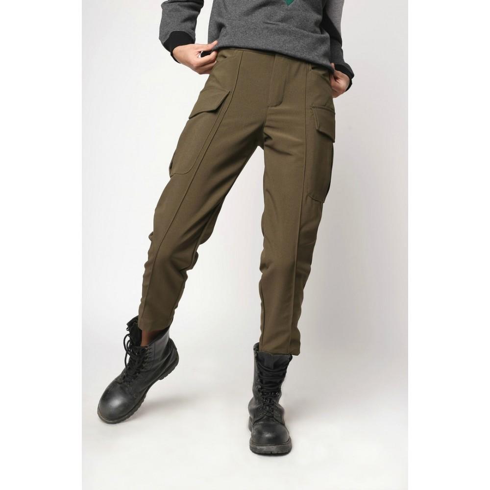 3ed425dd5298 Женские штаны карго хаки