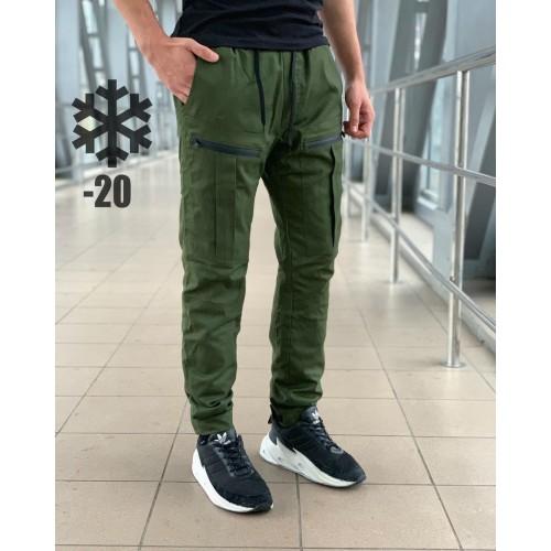 Мужские штаны зимние хаки