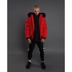 Короткая мужская куртка с капюшоном