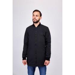 Куртка бомбер чёрная