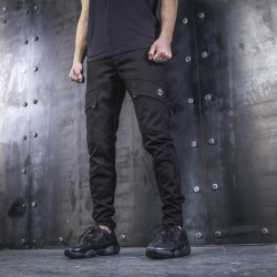 Черные штаны с карманами по бокам мужские