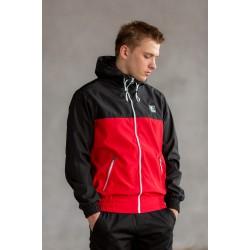 Мужская спортивная ветровка Black/Red