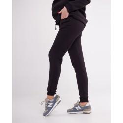 Женские чёрные спортивные штаны зима