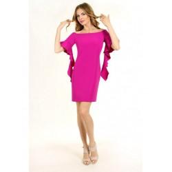 Платье с рукавом воланом