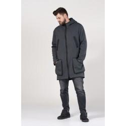 Куртка трикотажная утепленная с капюшоном