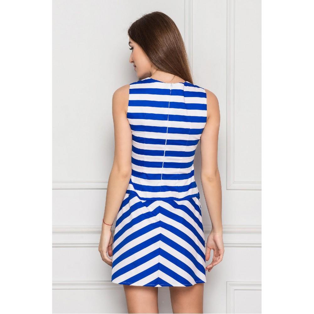 Платье в синюю полоску