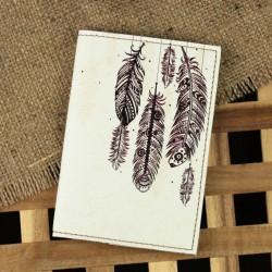 Обложка для паспорта Воздушные перья + блокнотик