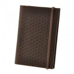 Обложка для паспорта 2.0 Карбон Орех (кожа)