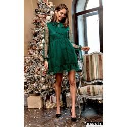 Платье с высокой талией в сетку