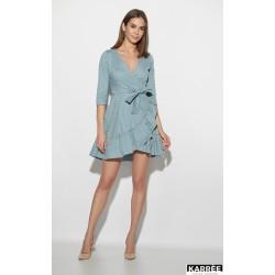 Платье мини с запахом летнее