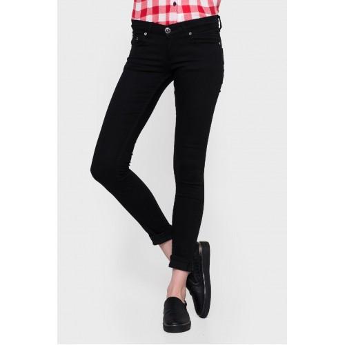 Черные узкие женские джинсы