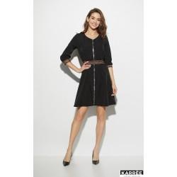 Платье с завышенной талией чёрное