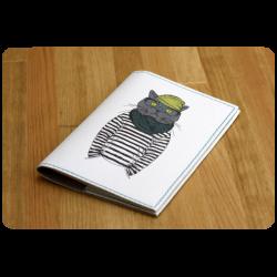 Обложка для паспорта Кот-хипстер + блокнотик