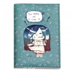 Обложка для паспорта I'm crazy and I Like it! + блокнотик