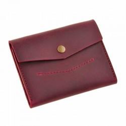 Раскладной бордовый кошелёк