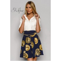 "Юбка ""Dolce & Gabbana монетки"" 01410"