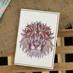 Обложка для паспорта Ethnic lion + блокнотик