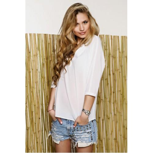 Блуза с удлиненным рукавом