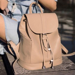 Кожаный рюкзак Олсен крем-брюле
