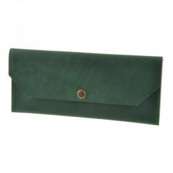 Женский кожный клатч конверт